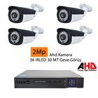 nuanstech 2 mp 4 kameralı kayıt cihazı güvenlik sistemi