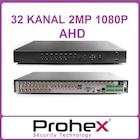 32 Kanal AHD DVR Kayıt Cihazı ( 2 MP ) 16 SES