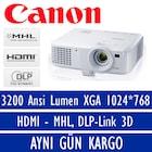 Canon LV-X320 3200 Ansi Lumen XGA 1024*768 HDMI DLP Projeksiyon
