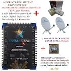 32 daire bina merkezi uydu sistemi set - 2 çanak antenli