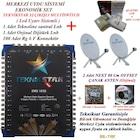 32 daire bina merkezi uydu sistemi set - 3 çanaklı - kablolu