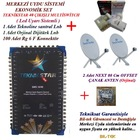 40 daire bina merkezi uydu sistemi set - 2 çanak antenli
