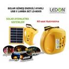 solar şarjli lambali kamp seti güneş enerji sistemi aydinlatma