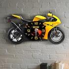 Kişiye Özel Motosiklet Tasarımlı Ahşap Duvar Saati - 1