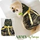 köpek elbisesi - army by kemique - köpek kıyafeti