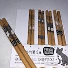 Bambu ağacından Chopsticks - Köpek Motifli - 5 çift