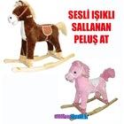 sallanan peluş at sesli işıklı oyuncak peluş at