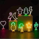 Büyük Boy Neon Işık Dekor Gece Lambası 9 Model
