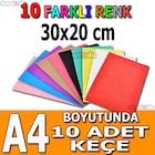 a4 ebat sentetik keçe kumaş hobi keçe süsleme keçe kumaş 30x20 cm