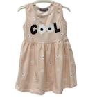 Kız Çocuk 3-8 Yaş Papatya Desenli Çizgili Kız Çocuk Elbise