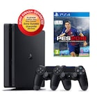 SONY PS4 SLİM 500GB EURASİA KONSOL + 2. PS4 KOL + PS4 PES 18 TR