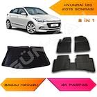 Hyundai İ20 2015 ve Sonrası 4K Havuzlu Paspas ve Bagaj Havuzu