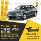 İNWELLS Mercedes C W204 2013 - 2014 Ön Muz Silecek Takımı