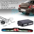 Park Sensörü Renk Değiştiren Ekranlı Araç Ses İkazlı 22 mm 4 R...