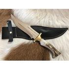 A.K. Pimli Çift Çizgili Avcı Bıçağı ( Geyik Boynuzu)