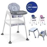 MiniMisi Mama Sandalyesi Çalışma Masalı Konforlu Minderli Lüx Gri