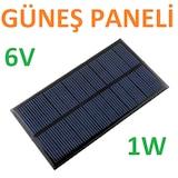 Solar Panel Batarya 6v 1w Güneş Pili