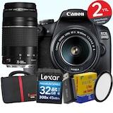 Canon 2000d 18-55mm IS II +75-300mm Wi-Fi® DSLR Fotoğraf Makinesi