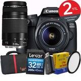 Canon EOS 4000d 18-55mm + 75-300mm Wi-Fi® DSLR Fotoğraf Makinesi
