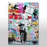 Ahşap Tablo Einstein Sevgi cevaptır Pankartı Görseli