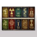 Ahşap Tablo Newton Tesla Einstein Fizik Ve Kimya Görseli