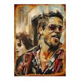 Brad Pitt Dekoratif ahşap Tablo