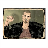 Brad Pitt Mdf poster