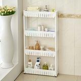 Banyo Rafı Plastik Tekerlekli 4 Raflı Deterjan Şampuan Rafı BC098