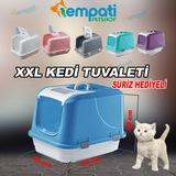 XXL KAPALI KEDİ TUVALETİ KÜREK+PLASTİK PAS PAS