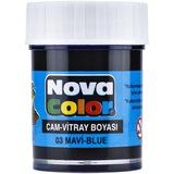 Nova Color Cam Boyası Su Bazlı Şişe Mavi Nc-151 Tekli (1 Adet)