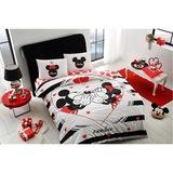 Taç Disney Minnie & Mickey Amour Nevresim Takımı Çift Kişilik