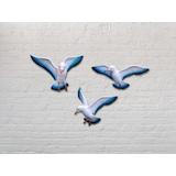 CajuArt Dekoratif Üçlü Güvercin Duvar Süsü Üçlü Kuş Duvar Dekoru