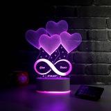 Sonsuz Aşkımız 3D Led Gece Lambası Lazer Tasarım