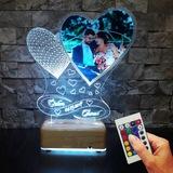 Resimli 3D Led Lamba Kişiye Özel İsimli Lamba Sevgiliye Hediye