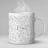 E=mc2 FORMÜL KUPA ALBERT EİNSTEİN SAYISAL ÖĞRETMEN SEVGİLİYE HEDİ