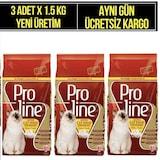 Proline Kitten Tavuklu Yavru Kedi Maması 1.5 KG x 3 Adet