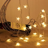 Yıldız Led Fişli Dekoratif Yılbaşı İp Led Yıldızlı Süs Led Işık