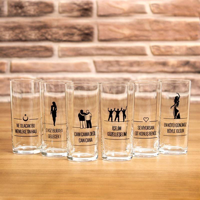 JOY GLASS 6 İÇELİM RAKI SETİ