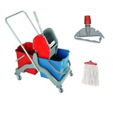 Temizlik Arabası Çift Kovalı Temizlik Seti -  Mop  - mop Aparatı