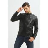 İkbal İkb-9 Siyah Erkek %100 Hakiki Deri Mont/Ceket