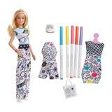 Barbie ile Kıyafet Tasarla Oyun Seti Barbie Bebek Kız Oyuncak