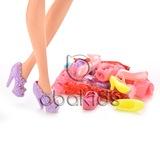 Barbie bebek ayakkabısı 10 çift karışık renk