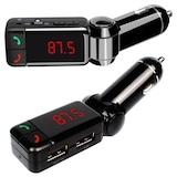 Bluetooth FM Transmitter AUX Araç Kiti MP3 Çift Usb Girişli Araç
