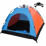 Kamp Çadırı 3 Kişilik Otomatik Kurulum Outdoor Çadırı + Kamp Matı
