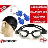 Dunlop Yüzücü Bonesi Yüzücü Gözlüğü Havuz Gözlüğü Kulak Tıkac gd2