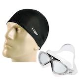Geniş Açılı Yüzücü Gözlüğü Havuz Deniz Gözlüğü Bez Bone Seti