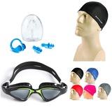 Yüzücü Gözlüğü GS20 + Dunlop Bez Bone + Kulak Burun Tıkacı Set