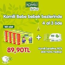 KOMİLİ BEBE Bebek Bezi Maxi Plus 4 x 42 ad + 90'lı Islak Havlu