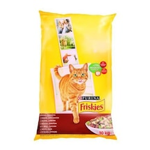 Friskies Yetişkin Kediler - Etli Tam Kuru Kedi Maması 10 kg