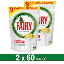 Fairy Hepsi Bir Arada Bulaşık Makinesi Kapsülü Limon 2x60 Yıkama